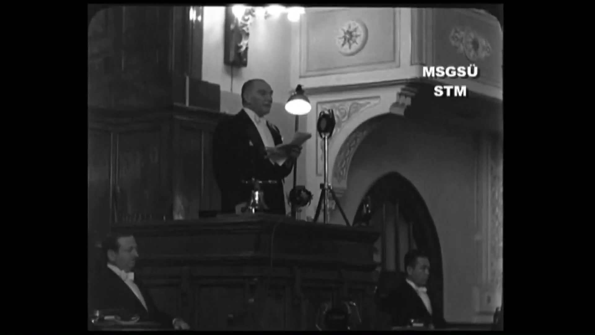 Atatürk'ün 1 Kasım 1936 tarihinde Meclis açılış konuşması