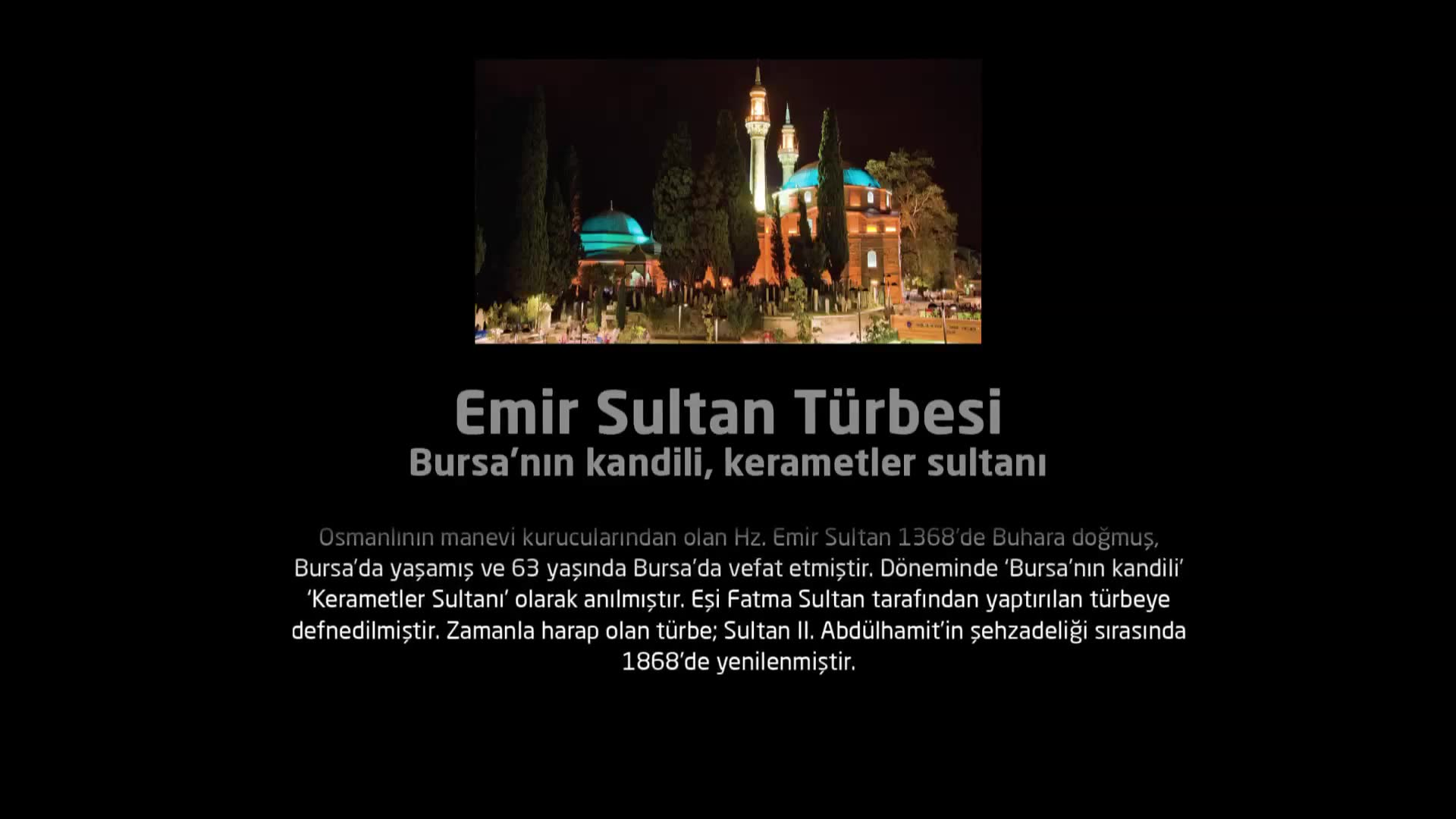 Emir Sultan Türbesi